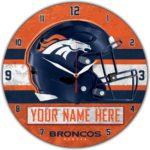 Denver Broncos Wall Clock
