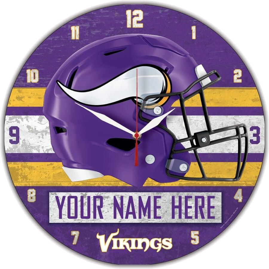 Minnesota Vikings Wall Clocks