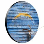 Los Angeles Chargers Weathered Design Hook And Ring Game
