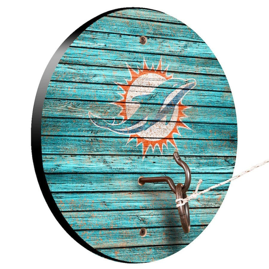 Miami Dolphins Weathered Design Hook And Ring Game