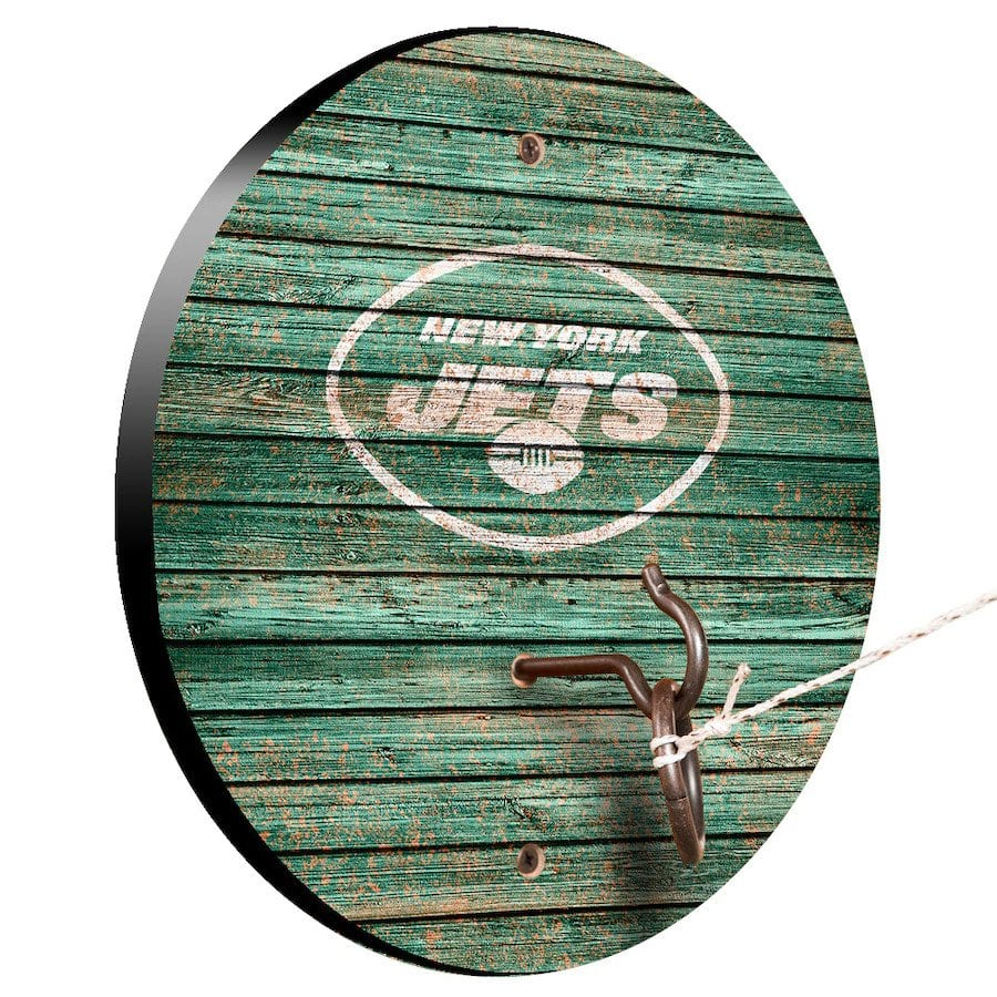 New York Jets Weathered Design Hook And Ring Game