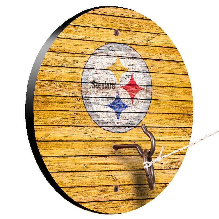 Pittsburgh Steelers Weathered Design Hook And Ring Game